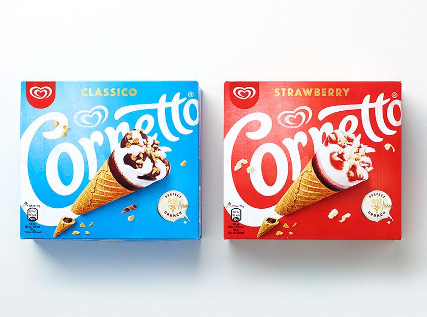 """""""可爱多""""简化品牌形象logo,为cornetto带来了不一样的新体验."""